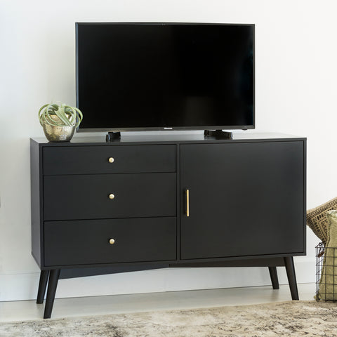 "angelo:HOME 52"" Mid-Century TV Console - Black"