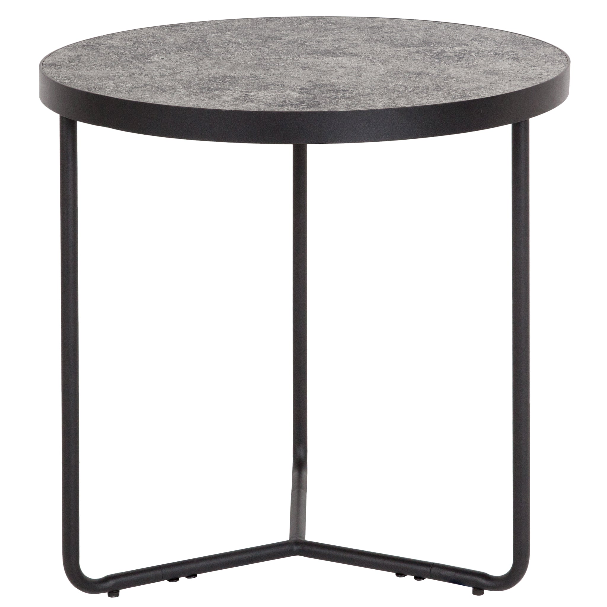 "Providence Collection 19.5"" Round End Table in Concrete Finish"