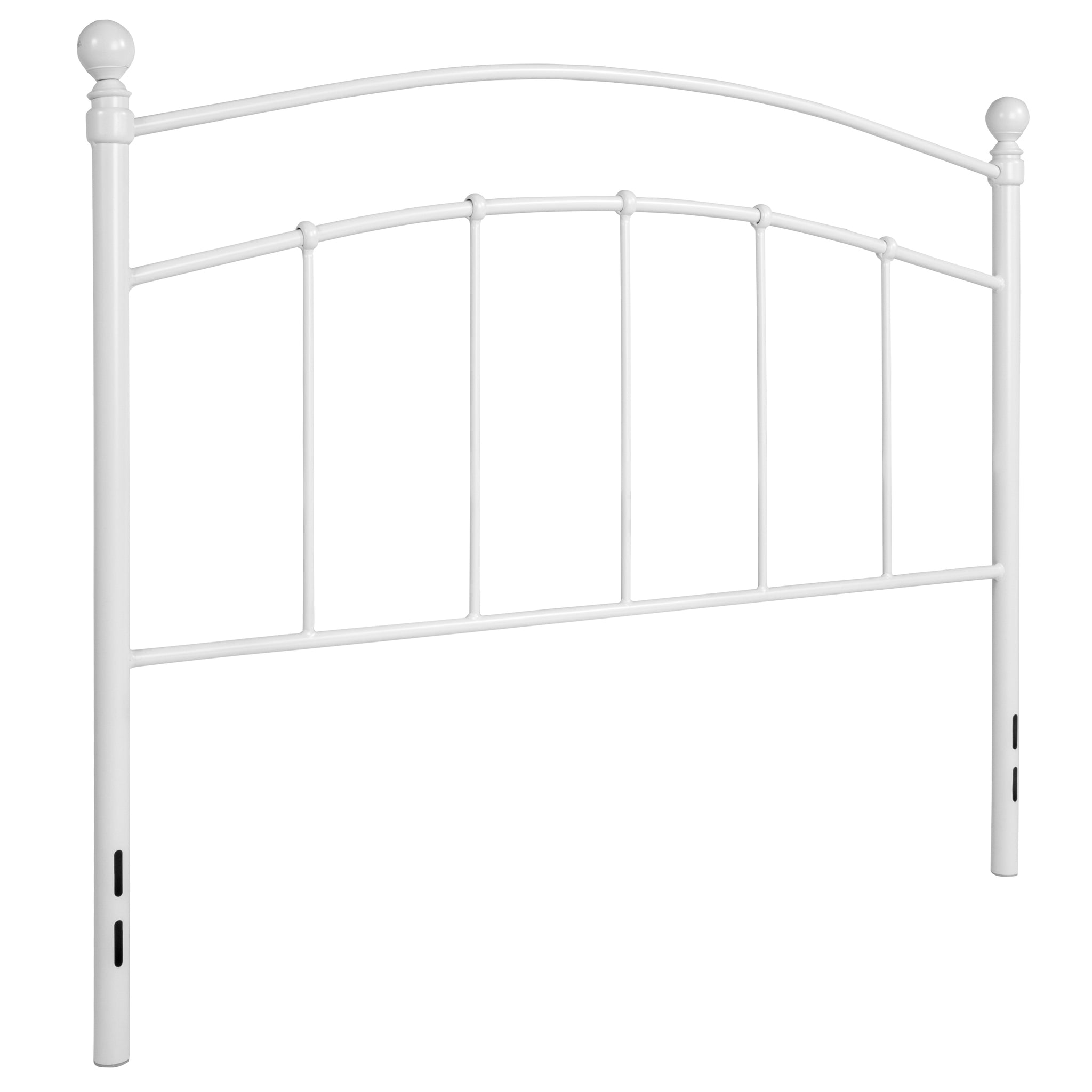 Woodstock Decorative White Metal Full Size Headboard