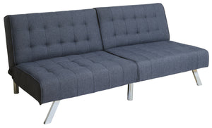 Koye Fabric Tufted Futon Transitional Style - Dark Blue