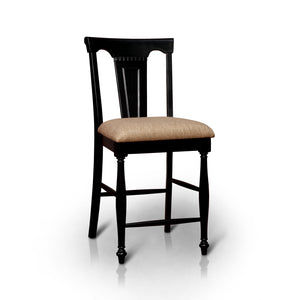 Zayne Counter Height Chair Country Style - Black/Cherry
