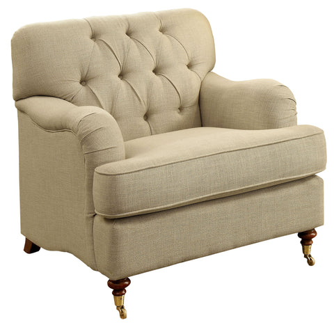 Elisabeth Tufted Fabric Accent Chair