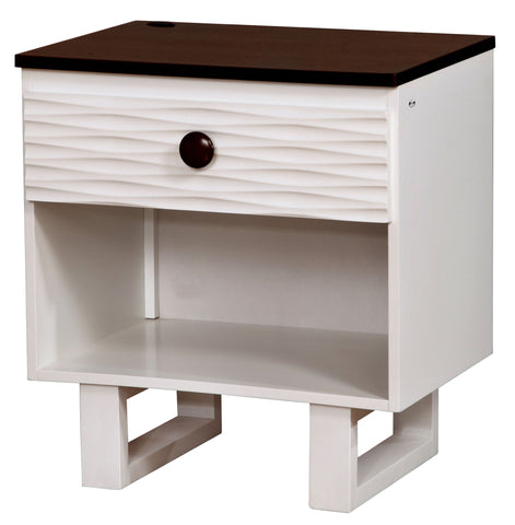 Mika Grooved Panel Nightstand
