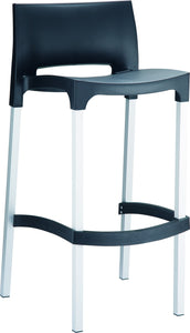 Gio Outdoor Barstool Black Pack Of - 2