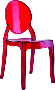 Baby Elizabeth Kids Chair Transparent Red Pack Of - 1