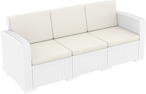 Monaco Resin Patio Sofa White with Cushion Pack Of - 1