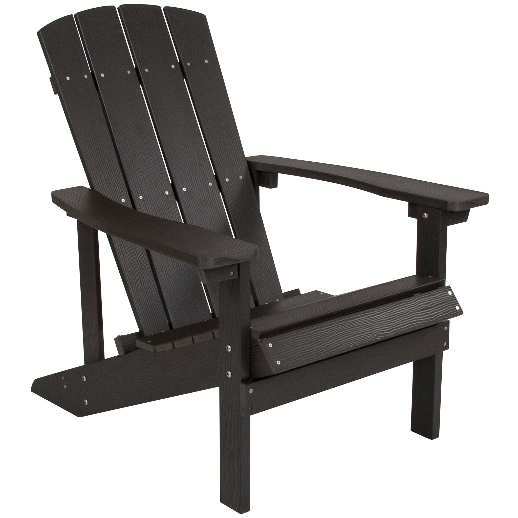 Charlestown All-Weather Adirondack Chair in Slate Gray Faux Wood