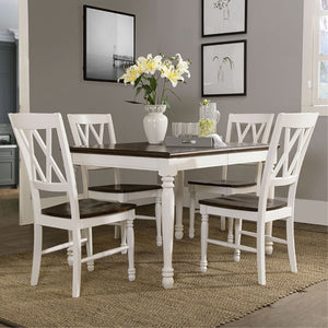 SHELBY 5 PC DINING SET IN WHITE FINISH