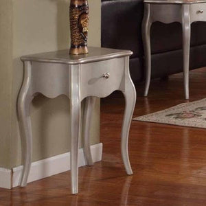 0900-S Accent Table Silver Finish