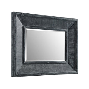 "36"" Rectangle Textured Wood Beveled Mirror"