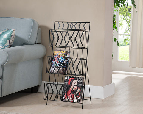 MR1203 3 Tier Magazine Rack