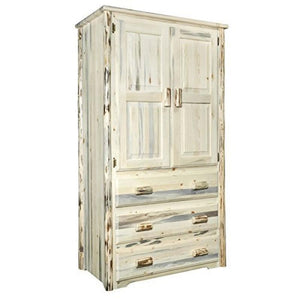 Montana Collection Armoire/Wardrobe, Clear Lacquer Finish