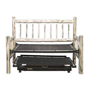 Montana Collection Day Bed w/ Pop Up Trundle Bed, Ready to Finish
