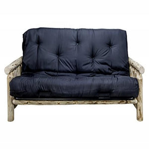 Montana Collection Futon Frame w/ Mattress, Clear Lacquer Finish