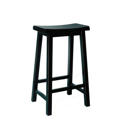Antique Black with Sand Through Terra Cotta Bar Stool, 29inch Seat Height