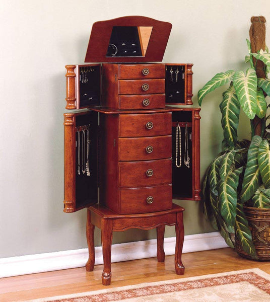 Classic Cherry Jewelry Armoire - overpacked