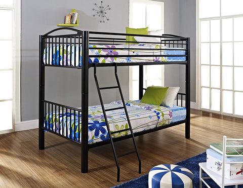 "Heavy Metal ""Black"" Twin Over Twin Bunk Bed"