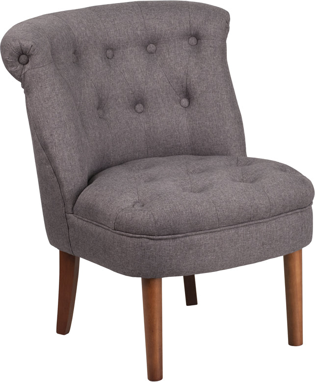HERCULES Kenley Series Gray Fabric Tufted Chair