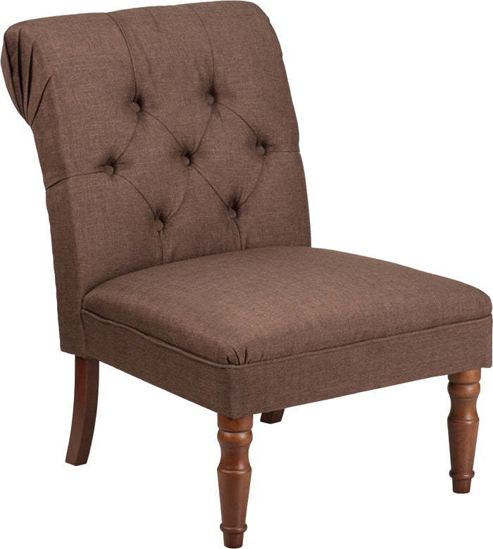 HERCULES Elm Park Series Brown Fabric Tufted Chair