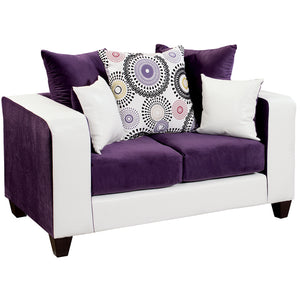 Riverstone Implosion Purple Velvet Loveseat - RS-4120-05L-GG