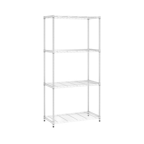 COMPLETE 4 SHELF 36 X 72 X 18  CHROME