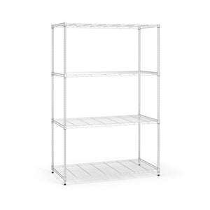 COMPLETE 4 SHELF 48 X 72 X 24 CHROME