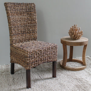 Arizona Abaca Weave Dining Chair with Mahogany Hardwood Frame - Salak Brown