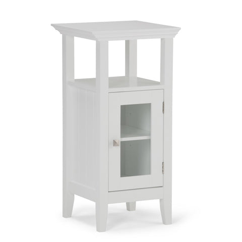 Acadian Floor Storage Cabinet in White