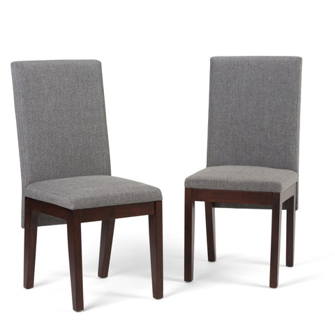 Jennings Linen Look Dining Chair in Grey (Set of 2)