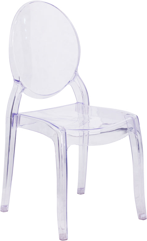 Flash Furniture 4-SZ-9007L-GG Large Size Ghost Chair in Transparent Crystal (