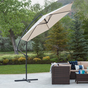 9 Foot Cantaliever Patio Umbrella, Tan