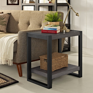 24 Inches Side Table - Charcoal