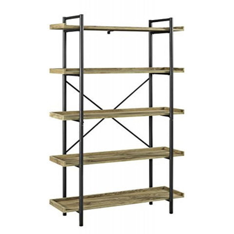 "WE Furniture 68"" Urban Pipe Bookshelf - Driftwood"