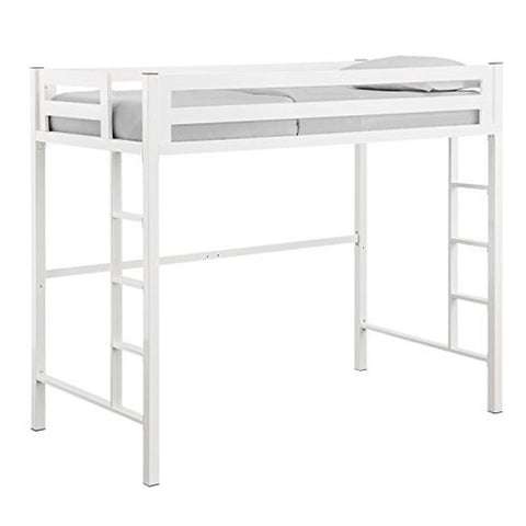 Bentley Twin Metal Loft Bed - White