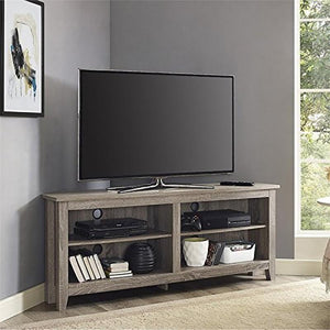 "58"" Wood TV Media Stand Storage Console - Driftwood"