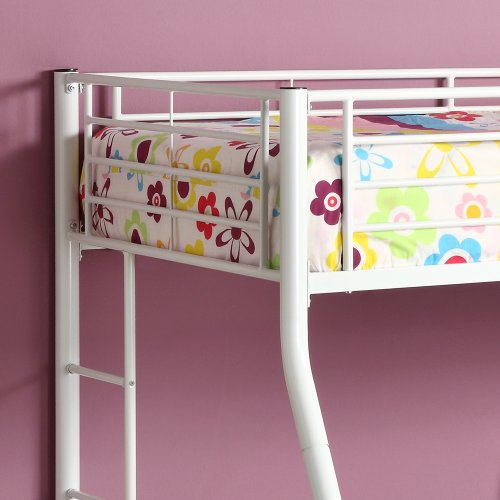 Twin over Full Metal Bunk Bed - White