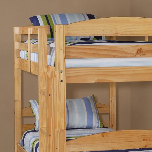 Twin Solid Wood Bunk Bed - Natural