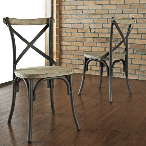 Reclaimed Dining Chairs, Set of 2