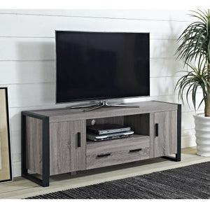 "60"" Ash Grey Wood TV Stand Console"