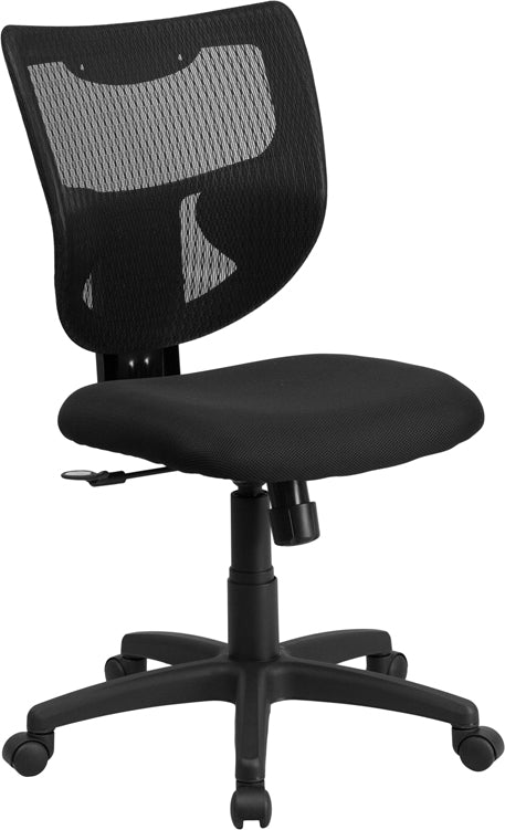 Galaxy Mid-Back Designer Black Mesh Back Swivel Task Chair