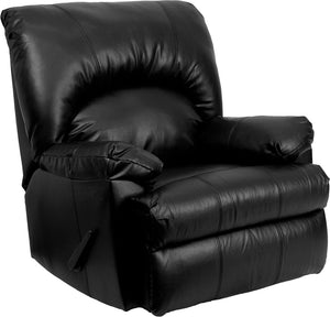 Contemporary Apache Black Leather Rocker Recliner - WM-8500-371-GG