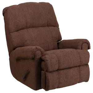 Contemporary Couger Chocolate Chenille Rocker Recliner - WM-8700-544-GG