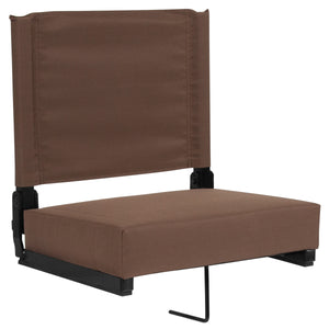 Grandstand Comfort Seats with Ultra-Padded Seat in Brown