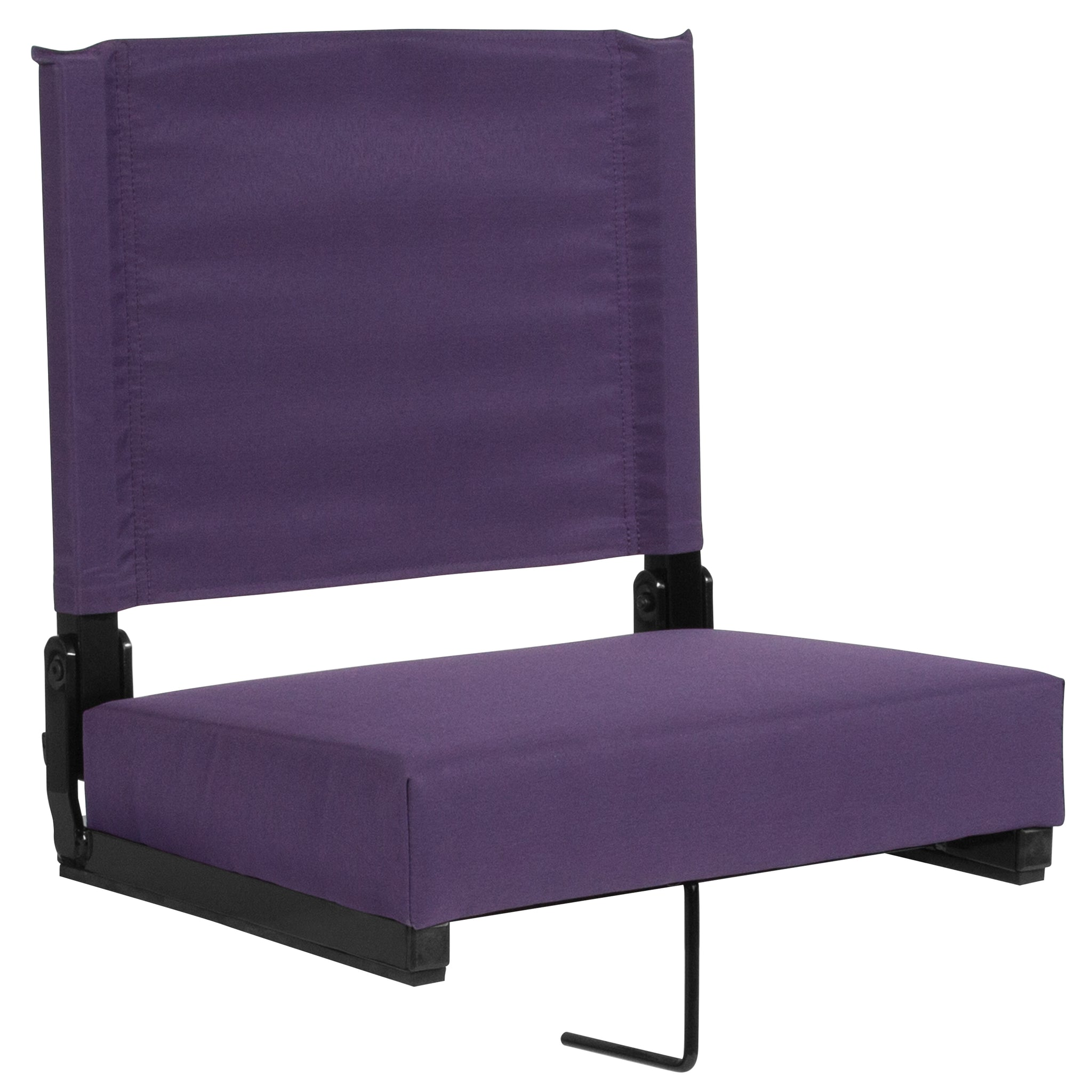 Grandstand Comfort Seats with Ultra-Padded Seat in Dark Purple