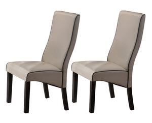 Pilaster Designs - Upholstered Parson Chair, Set of 2 Chairs (Gray)
