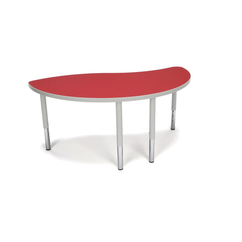 OFM Adapt Series Ying Student Table - 18-26 Height Adjustable Desk, Red