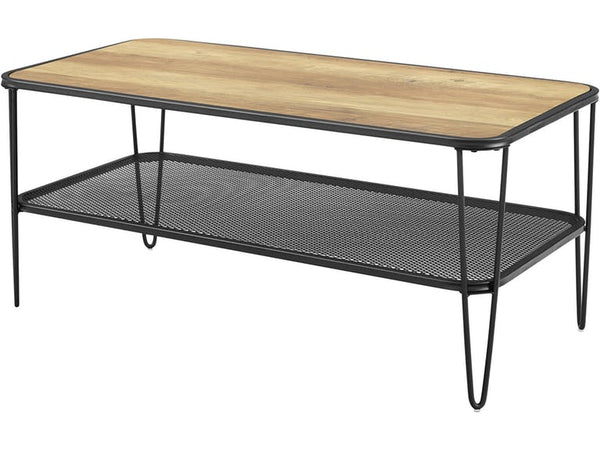 Mid Century Modern Coffee Table - Rustic Oak