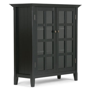 Acadian Solid Wood Medium Storage Cabinet in Black