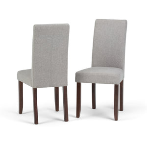 Acadian Linen Look Fabric Parson Dining Chair in Cloud Grey (Set of 2)