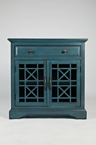 Craftsman Antique Blue Accent Chest